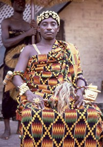 Traditional Chief  in Kente Coth
